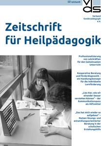 Cover der Zeitschrift für Heilpädagogik mit zwei lernenden Mädchen und einem Abakus