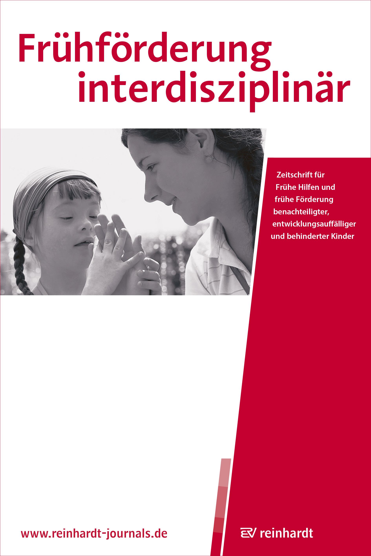 Cover der Frühförderung interdisziplinär