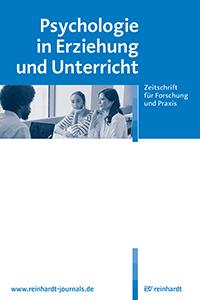 Cover der Zeitschrift Psychologie in Erziehung und Unterricht